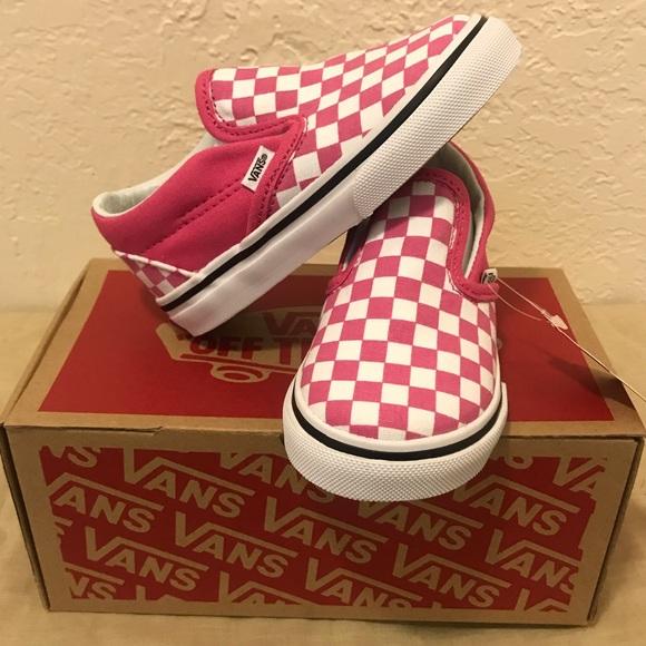Td Raspberry White Checkered Slip On